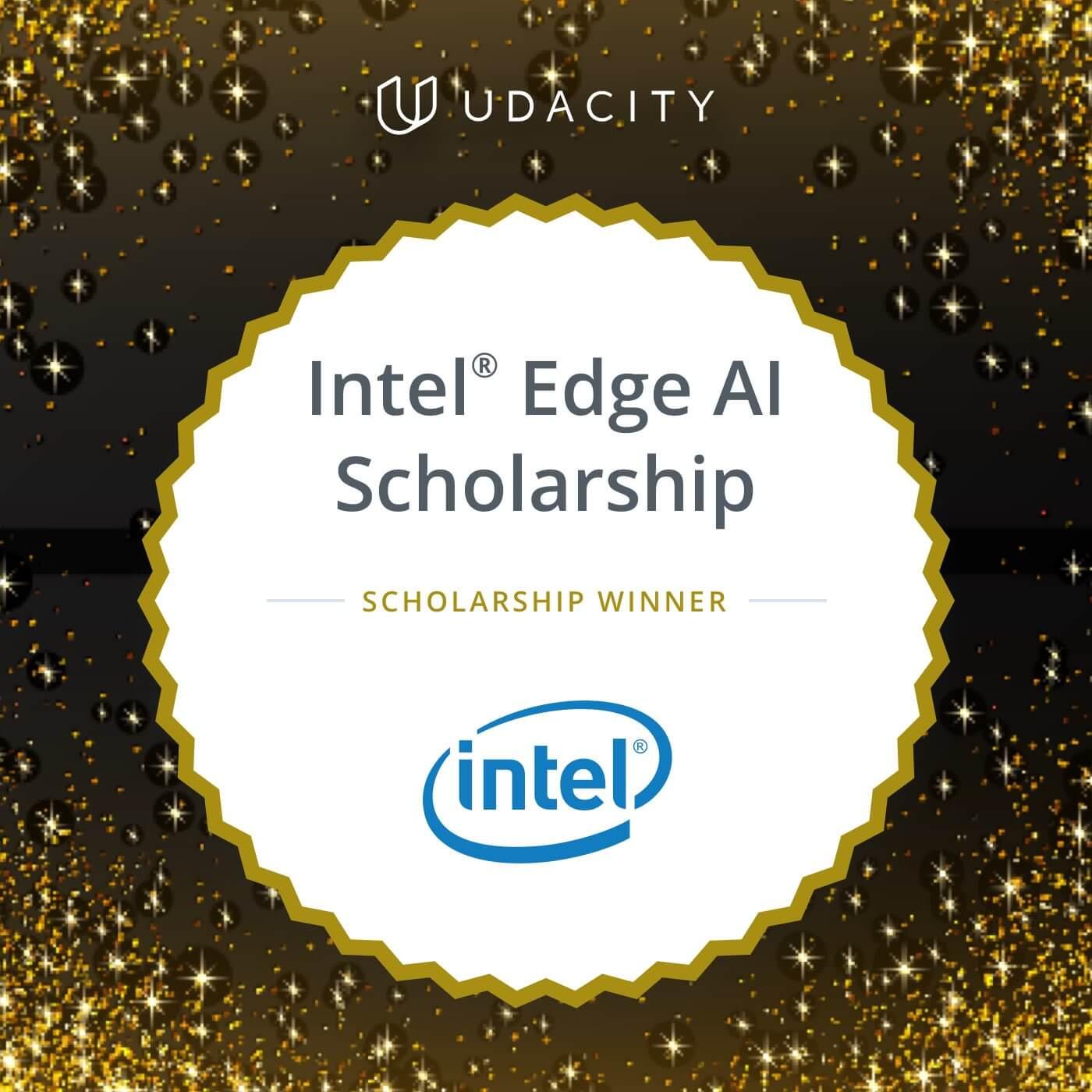 Intel Scholarship Winner